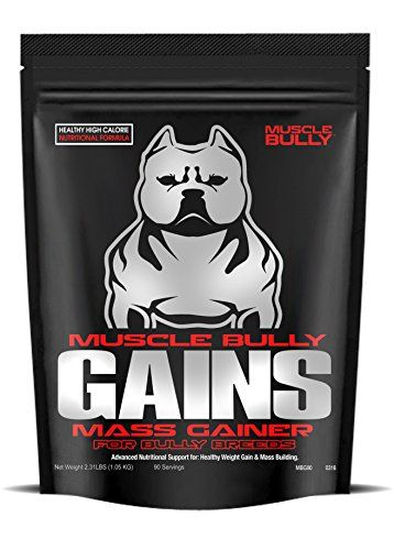 Muscle Bully Gains Mass Weight Gainer For Bully Breeds 90 Serving