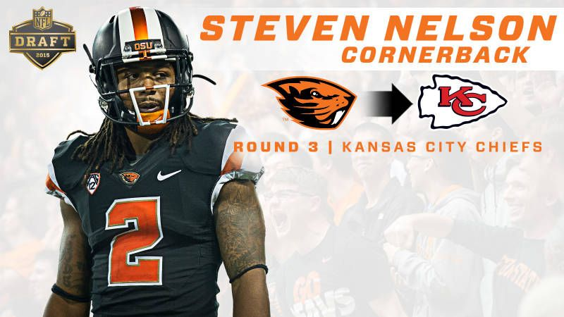 Steven Nelson Selected by Chiefs in 3rd Round - Oregon State University Official Athletic Site