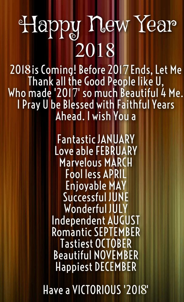 Happy new year 2018 quotes greeting wishes images happy for New year eve messages friends