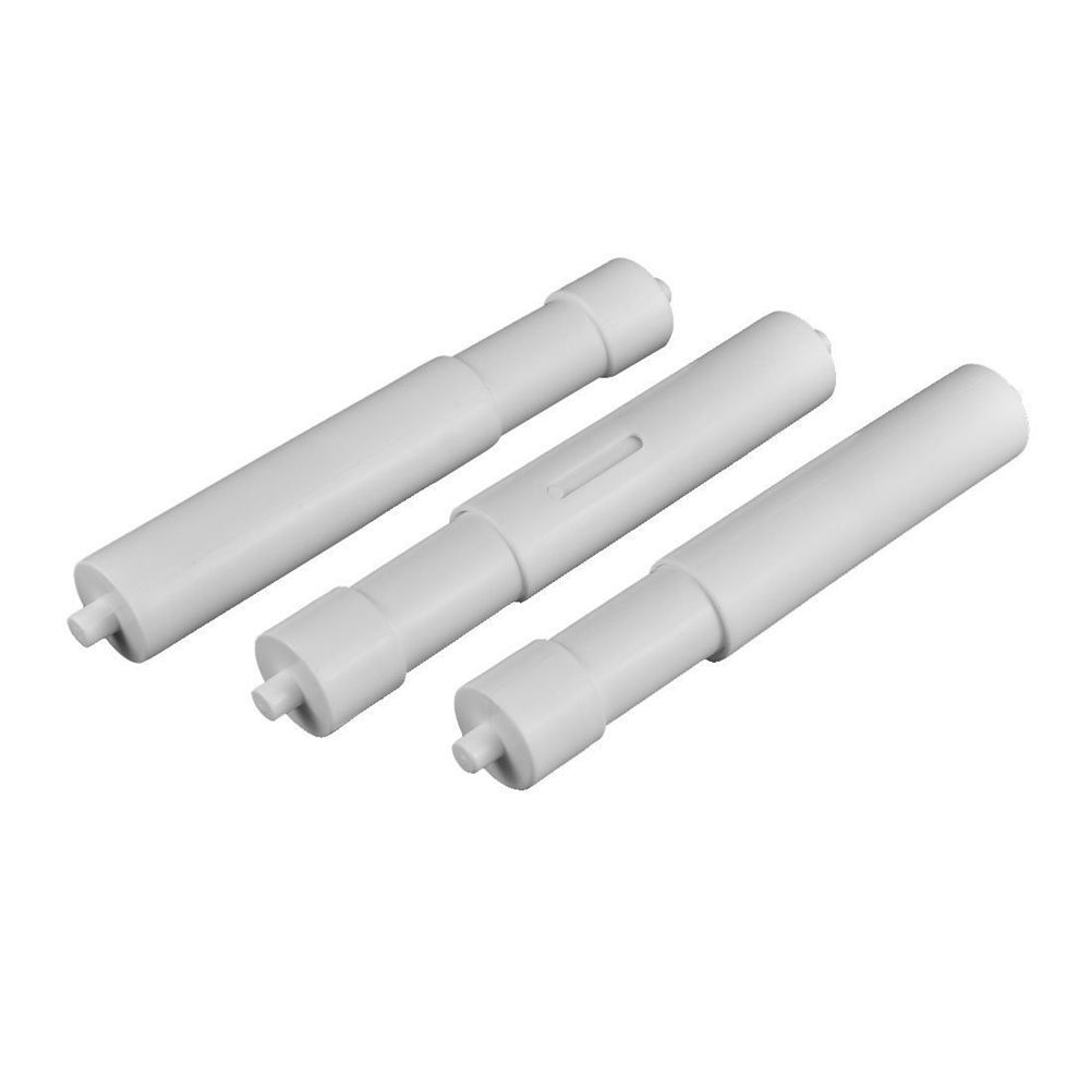 3x Plastic Hotel Bathroom Telescopic Toilet Paper Replacement