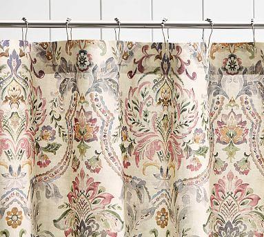 Ivana Print Shower Curtain Printed Shower Curtain Cotton Shower