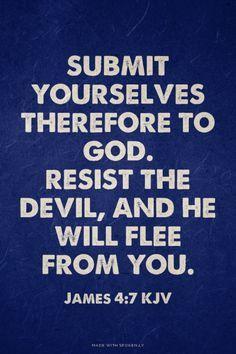 He Flee Resist Will The Devil