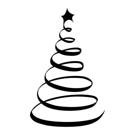 Christmas Tree Star Ornament Graphics Svg Dxf Eps Png Cdr Ai Pdf Vector Art Clipart Instant Download Silhouette Christmas Christmas Tree Star Tree Svg