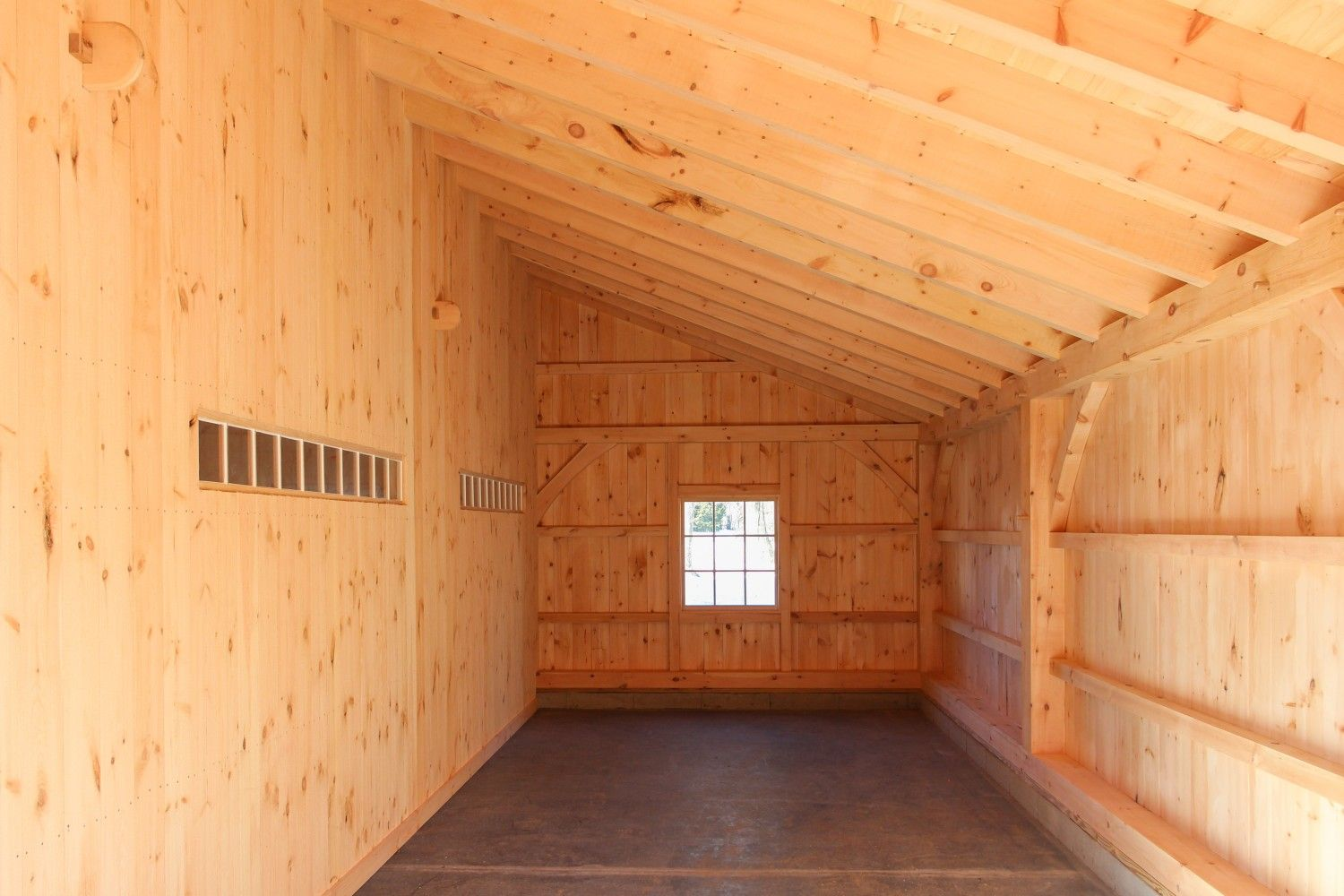Inside The 12 X 32 Enclosed Lean To Lean To Tiny House Cabin