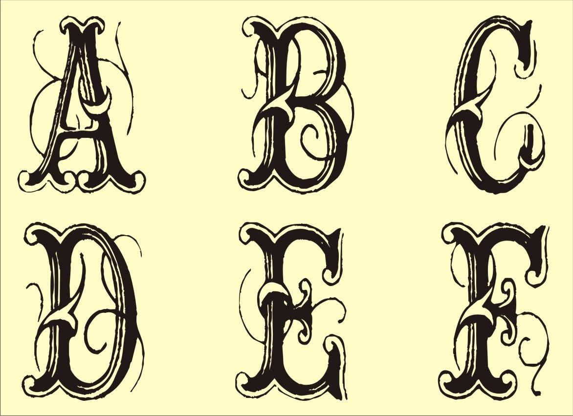 Fancy Fonts Alphabet, Alphabet Stencils