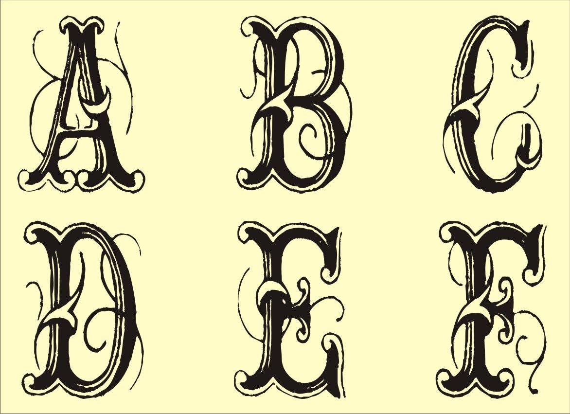 Free Monogram Stencils Printable Fancy fonts alphabet