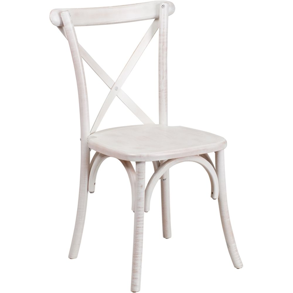 HERCULES Series Limewash Wood Cross Back Chair At FashionSeating.com
