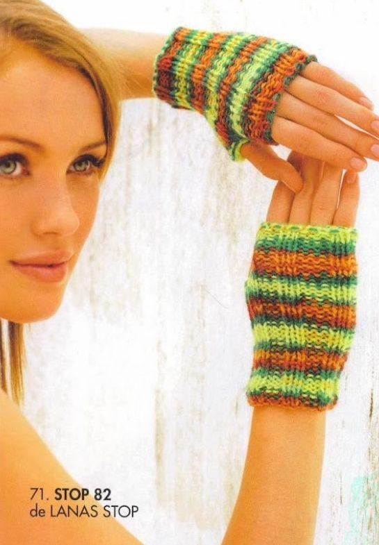 patrones asgaya: MITONES A DOS AGUJAS | Tricot | Pinterest | Crochet