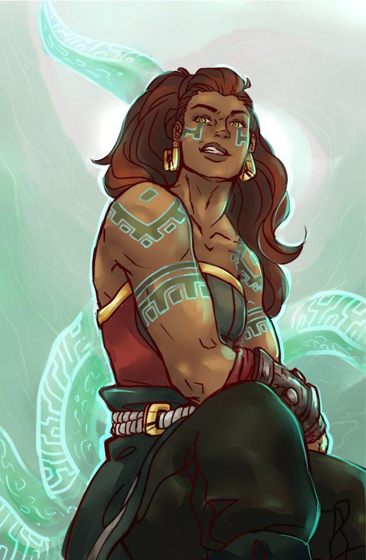 leauge of legends illaoi by allaroundspaces black female fantasy