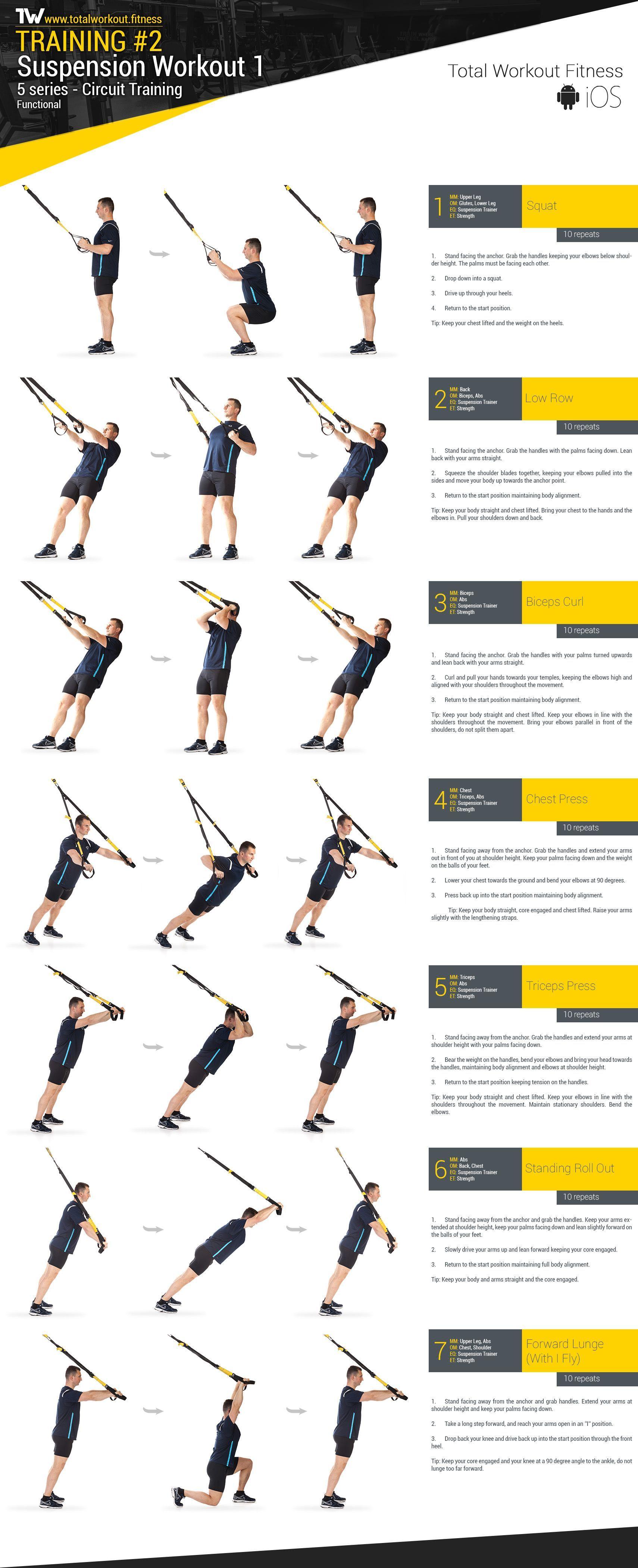 Training 2 Suspension Workout 1 Total Workout Fitness Http Www Weightlossjumpsstarts Com Best Workout For Your Total Workout Trx Workouts Trx Training