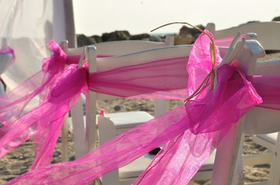 Chair sashes make a great cold accent and addition to any ceremony  Created by Simple Elegant Weddings