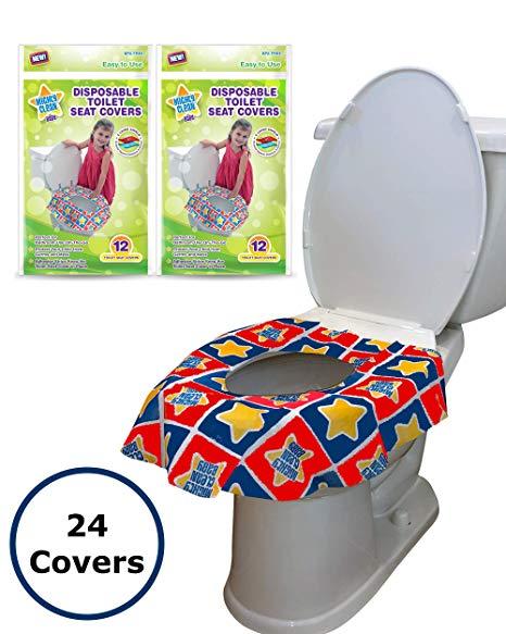 Amazon Com 24 Large Disposable Toilet Seat Covers Portable