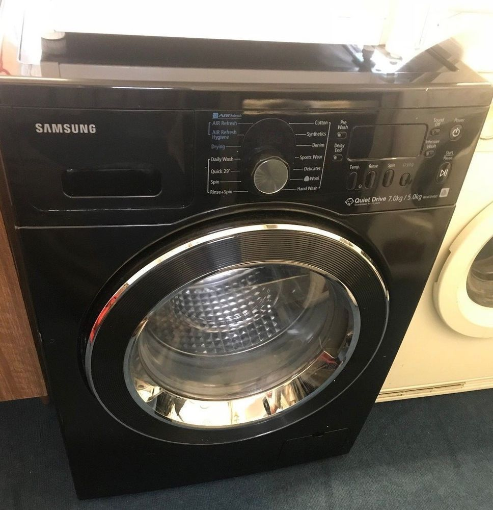 Samsung Black Wd8704rjd Washer Dryer Eco Bubble Samsung Washing
