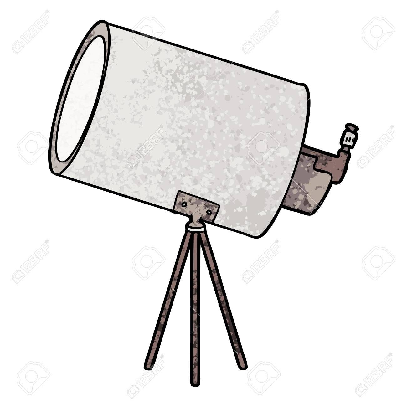 Cartoon Big Telescope Illustration Aff Big Cartoon Illustration Telescope Tripod Lamp Decor Lamp