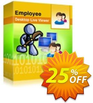 25% OFF Employee Desktop Live Viewer - 50 Users License Pack Coupon code on April Fools Day ...