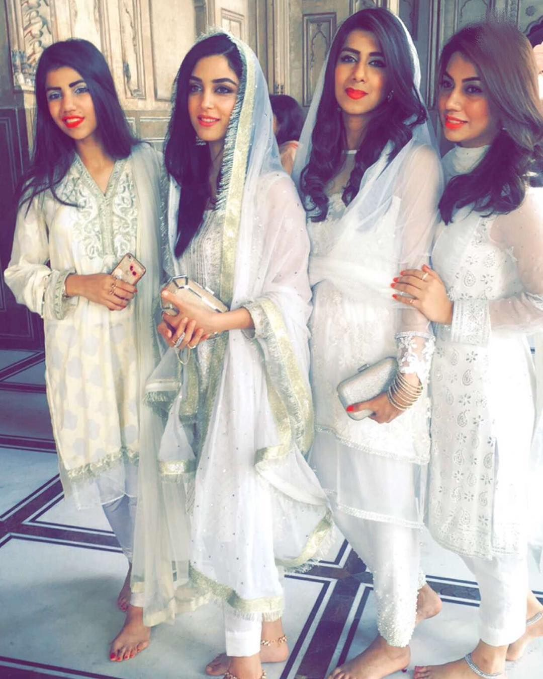 We Love our Girls dressed all White at Wahaj Ali\'s Nikkah Today ...