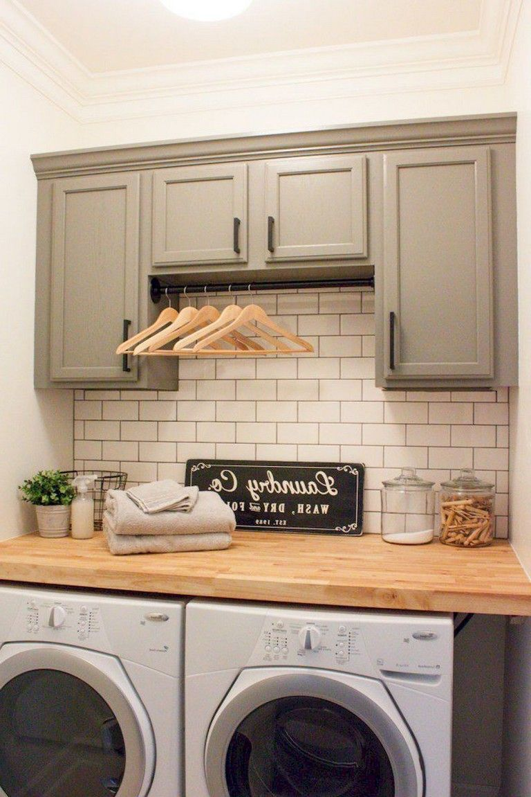 Laundry Cabinet Organization 39 Best Small Rustic Farmhouse