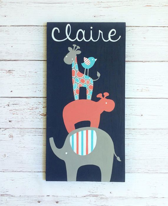 Nursery safari decor baby name sign safari baby shower craft nursery safari decor baby name sign safari baby shower personalized baby gift safari nursery jungle nursery art elephant giraffe negle