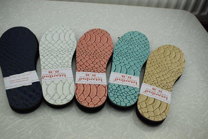 Photo of 1 paire de 3 couches feutre eva et PU cuir Soles pour Crochet | Etsy