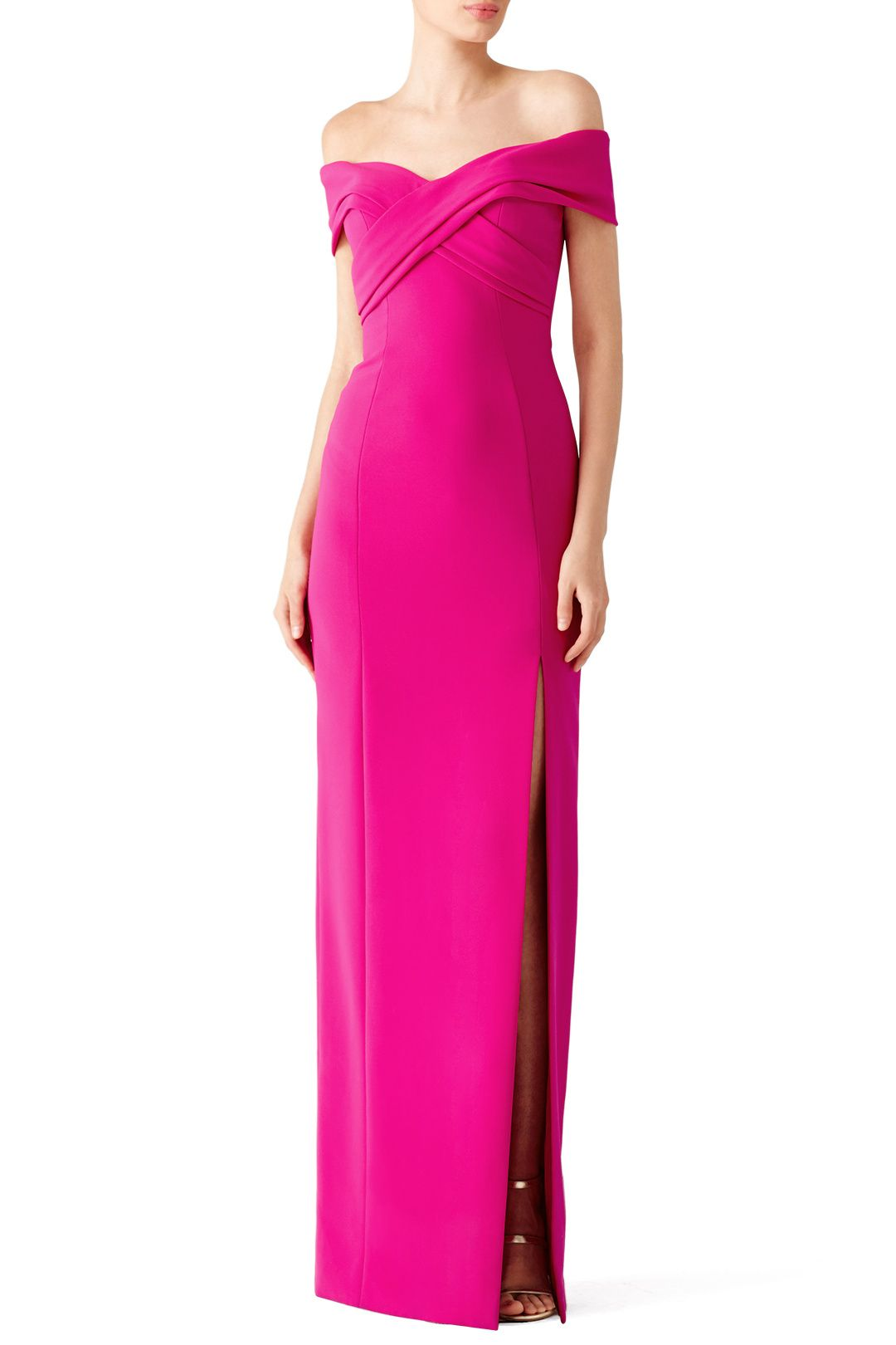 Rent Fuchsia Off Shoulder Gown By Theia For 120 Only At Rent The Runway Maxi Dress Cocktail Off Shoulder Gown Fuschia Dress [ 1620 x 1080 Pixel ]