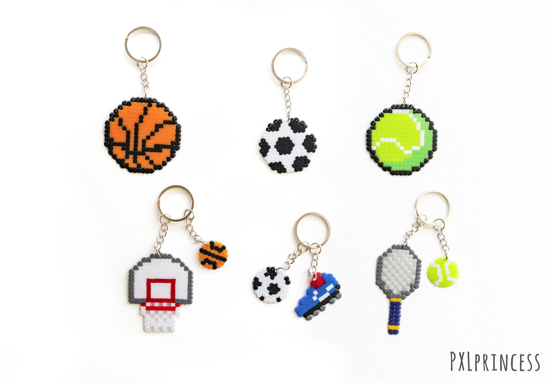 perecer Superar cigarro  Tennis Basketball Football Soccer keychain Pixel art Soccer | Etsy | Pearl  beads pattern, Perler beads designs, Perler beads