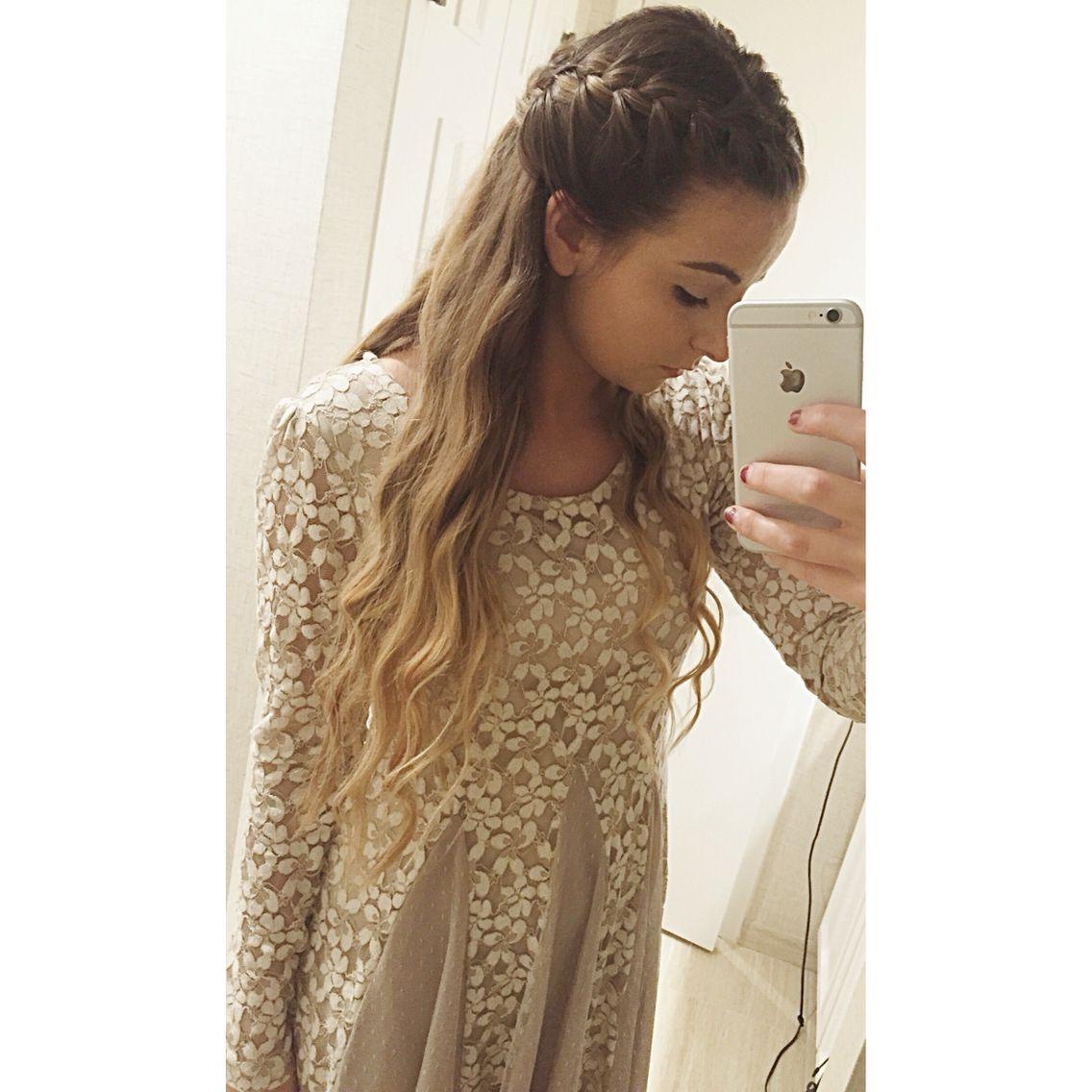 French braid half up half down | Hair | Pinterest | French ...