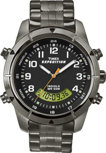 9286ef6a7ce Timex Men s T49826 Expedition Rugged Chronograph Analog-Digital Black Dial  Bracelet Watch Timex