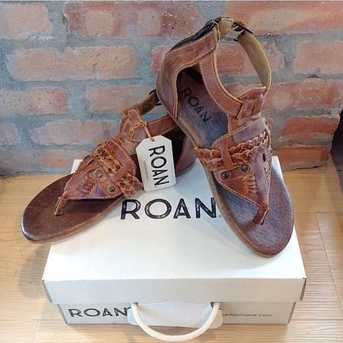 Fall in love with these new ROAN sandals! Made with real leather and they  are