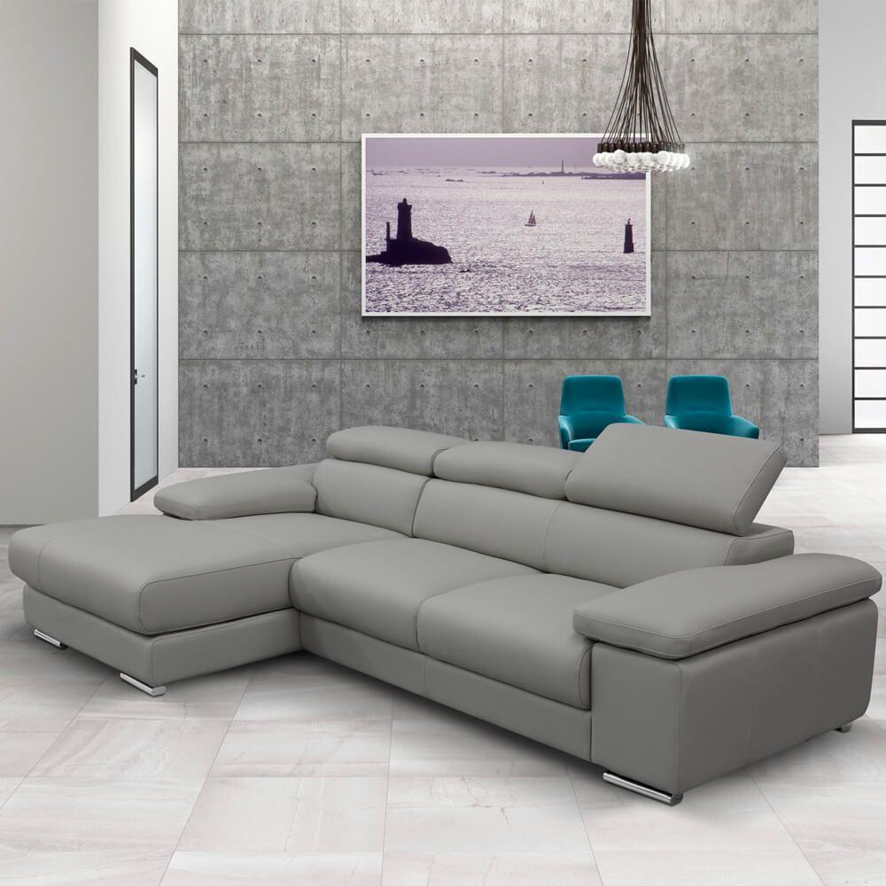Stylish Living Room Design With Divan Sofa Italian Leather Sofa Grey Leather Sofa Corner Sofa
