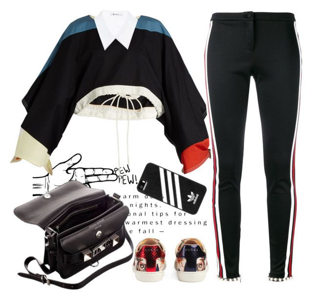 """New friends, new class, new school-- everything is strange"" by ngocdinh ❤ liked on Polyvore featuring Chloé, T By Alexander Wang, Gucci, adidas and Proenza Schouler"