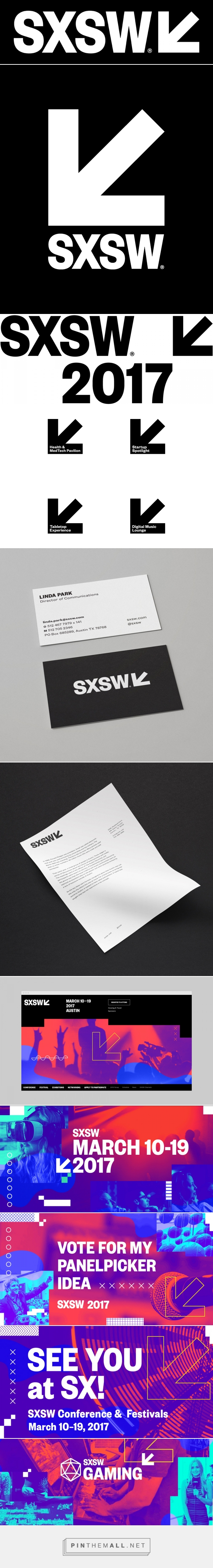 Brand New: New Logo and Identity for SXSW by Foxtrot... - a grouped images picture - Pin Them All