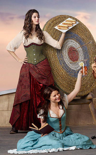 The green and red skirt as alternate for the bakers wife ...Once Upon A Time Ruby And Belle