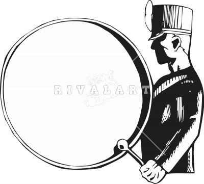 bass drum marching band clip art clipart free clipart clipart rh pinterest com free drumline clipart Drumline Silhouette Quad