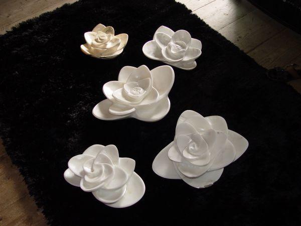 #sculpture By #sculptor Cristiana Cravanzola Titled: U0027Zen Garden (abstract  Water Lilies