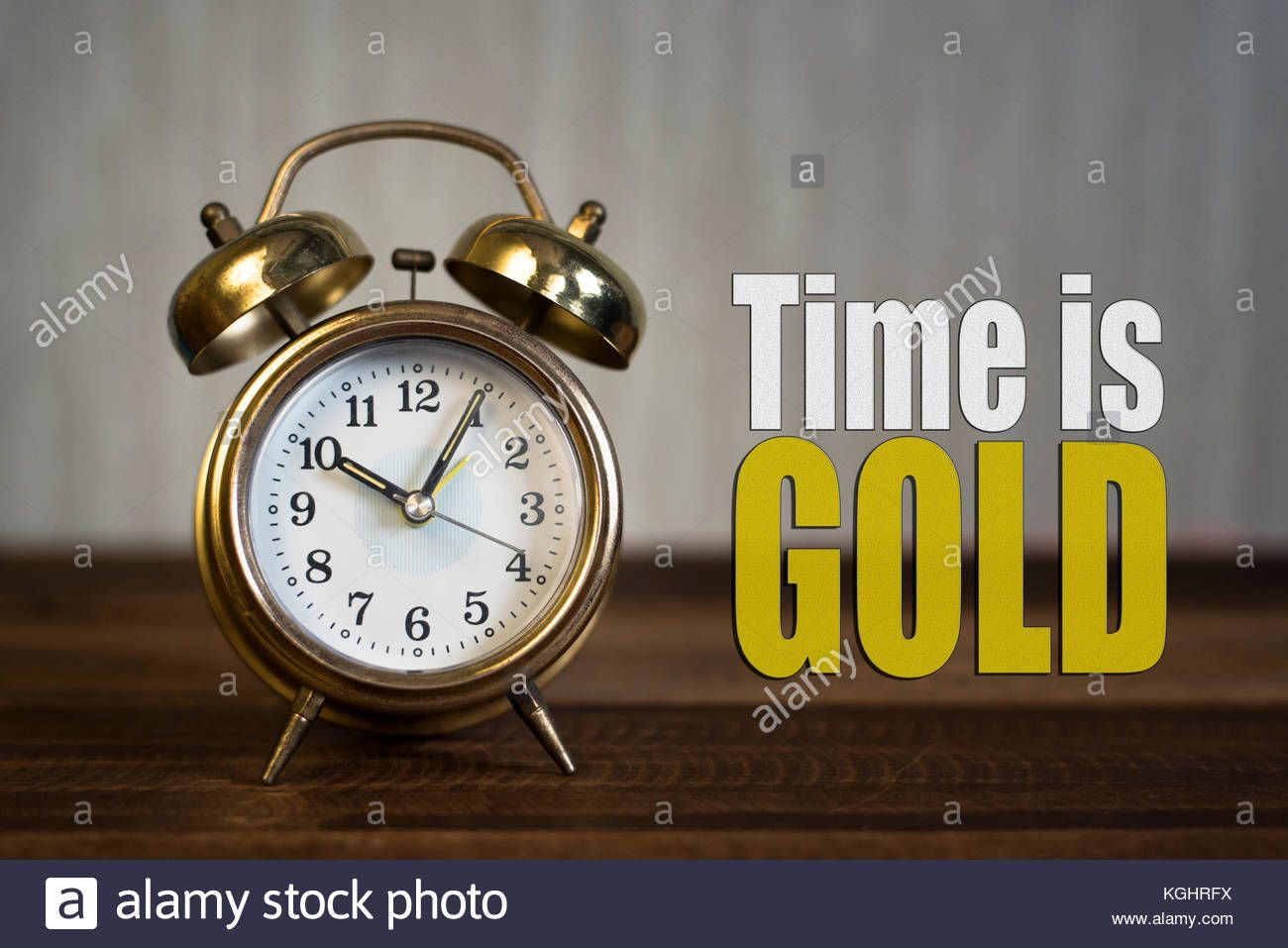 Download This Stock Image Time Is Gold Concept Gold Bell Clock On A Wooden Table With Time Is Gold Word Kghrfx From Alamy Stock Photos Wooden Tables Clock Hd wallpaper alarm clock dial time