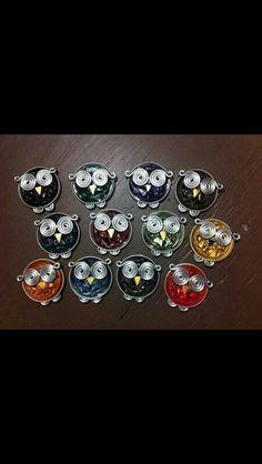pendentif ou broche hibou en nespresso