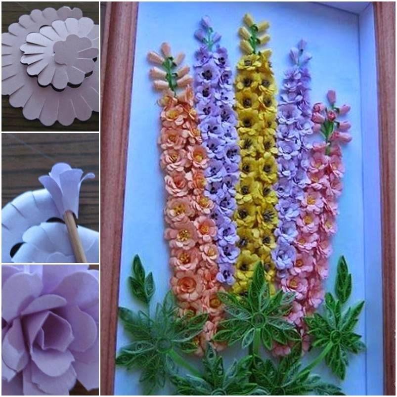 Diy Wall Flowers: DIY Quilling Paper Flower Wall Art