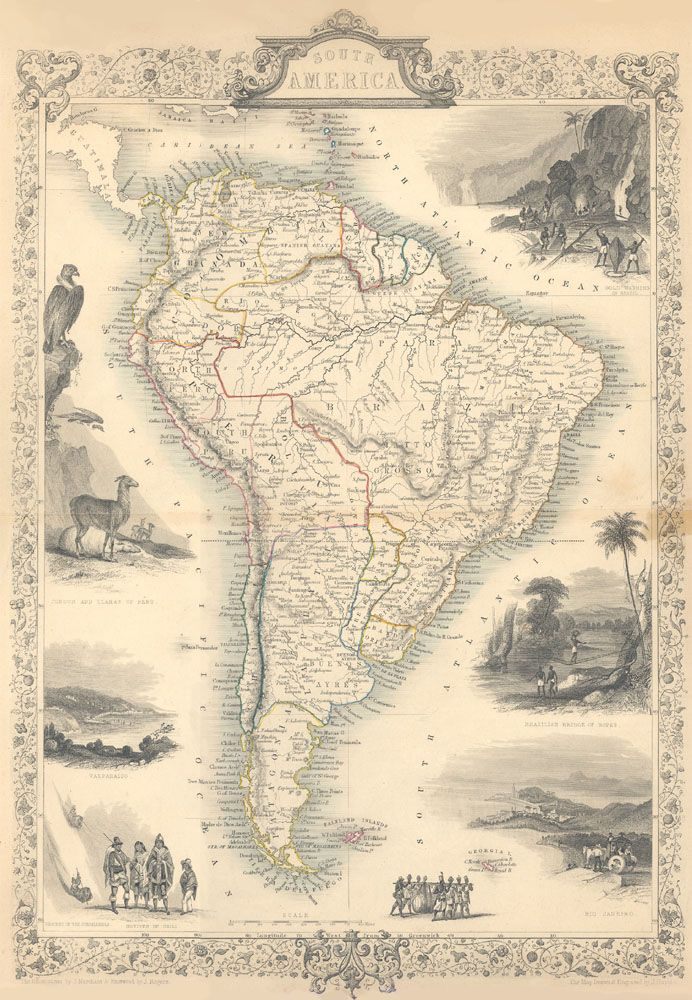 Pin By Hanif Nalbandy On Maps Pinterest South America Map And - Maps of south us 1800s
