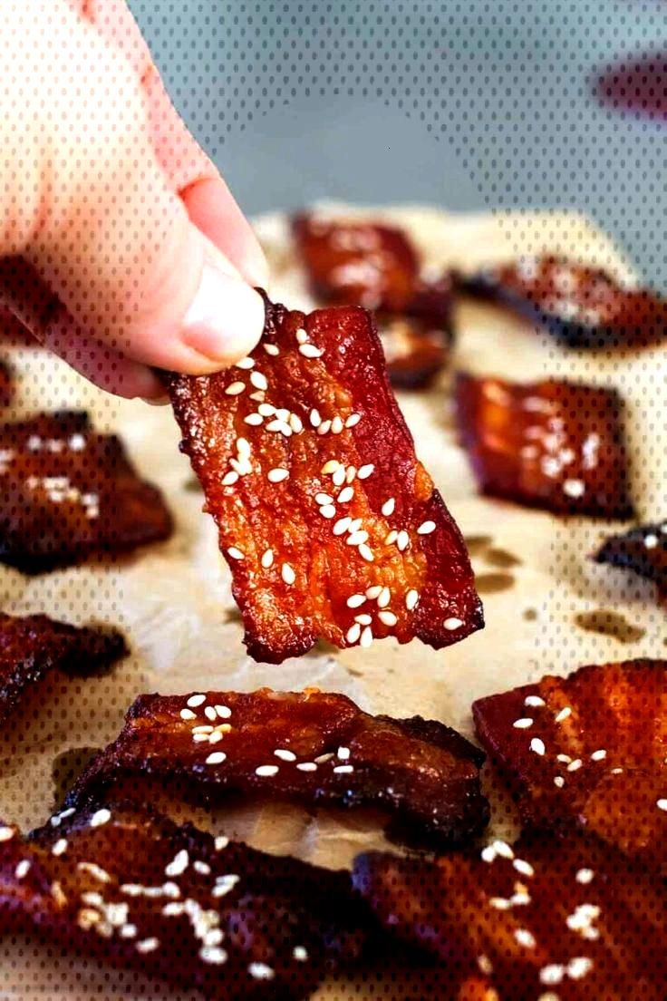 Brown Sugar Sriracha Bacon Bites - Taste and Tell - Everyone loves bacon! These savory bacon bites