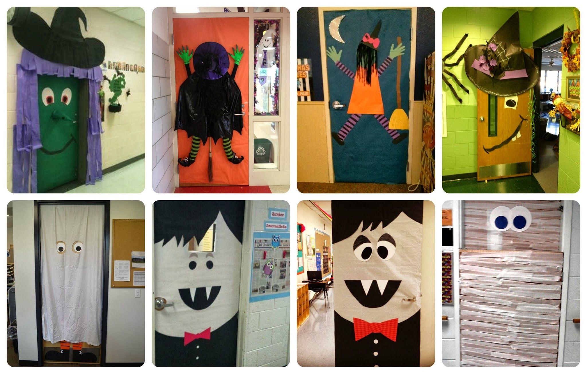 Ideas Para Decorar En Halloween Imanita Blog Halloween Door Decorations Halloween Crafts Halloween Kids