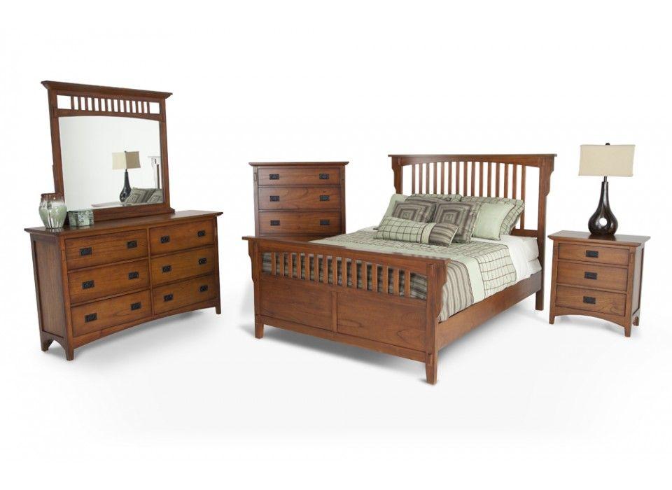 Mission Oak 8 Piece Queen Bedroom Set Oak Bedroom Furniture Sets