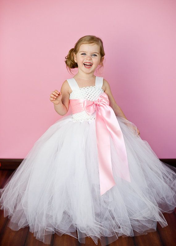 Anna Flower Girl Tutu Dress with by TheLittlePeaBoutique on Etsy ...