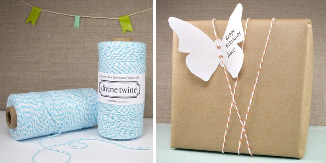 brown paper packages tied up with string...a shape card-perfect!