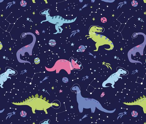 Colorful Fabrics Digitally Printed By Spoonflower Space Dinosaurs In 2020 Dinosaur Wallpaper Dinosaur Background Dinosaur Fabric