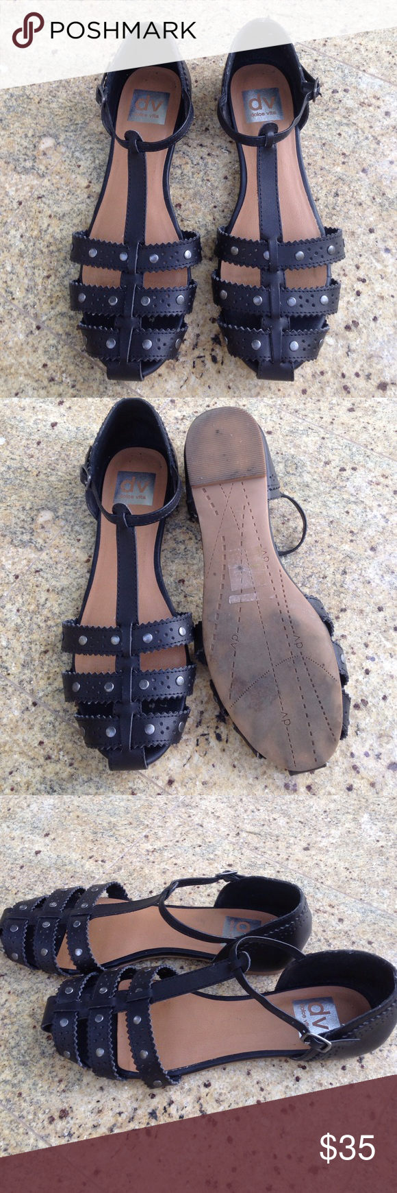 Black sandals size 7 - Dolce Vita Black Sandals Size 7 1 2 In Excellent Used Condition As