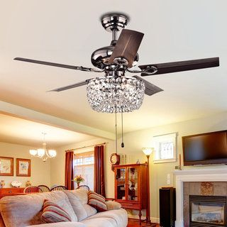 Catalina 3-light Bronze-finished 5-blade 48-inch Crystal Ceiling ...