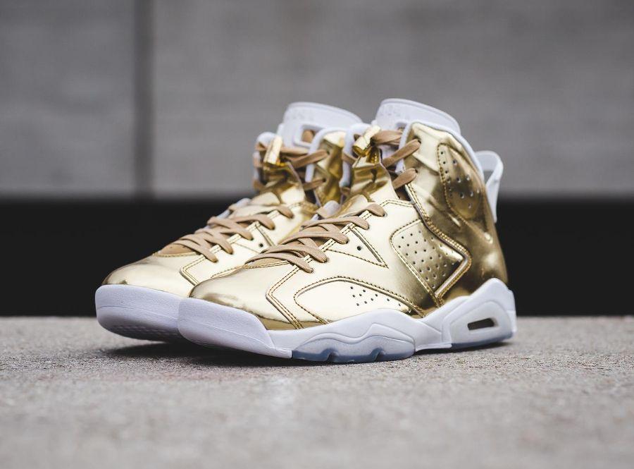hot sale online 002d0 414c1 chaussure-air-jordan-6-metallic-gold-cuir-dore-2