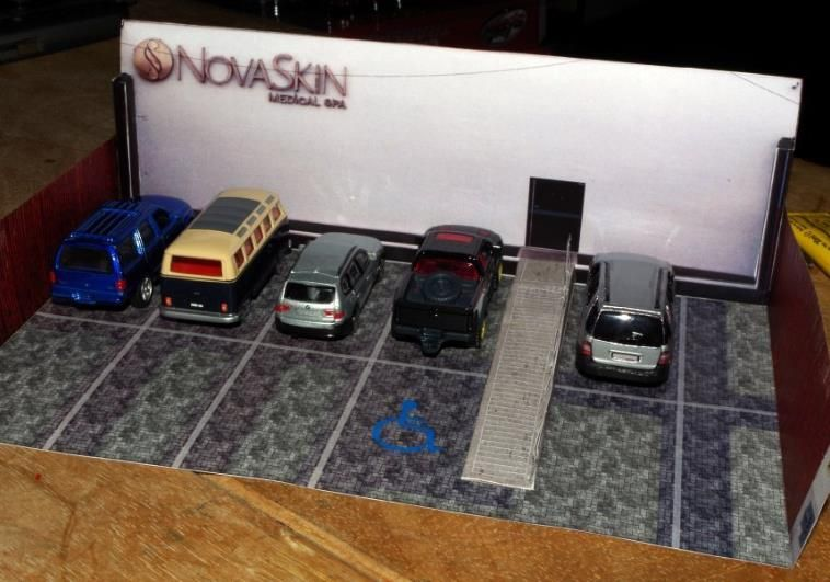 Nova Skin Diorama Paper Model For Miniatures In 1 64 Scale By Marco Antonio Checa Funcke Paper Models Diorama Paper Models Buildings