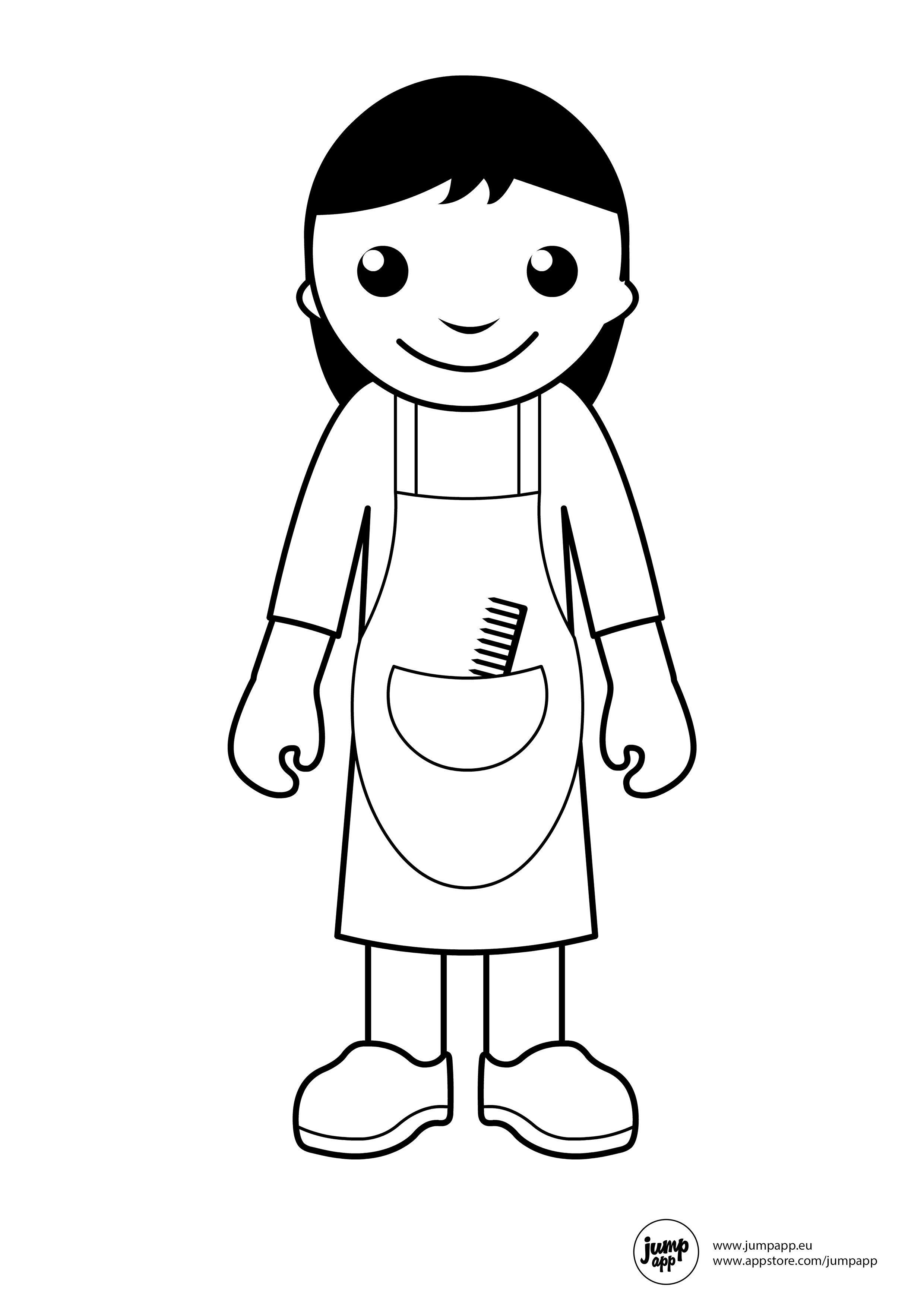 hairdresser | Printable Coloring Pages | Pinterest | Profesiones