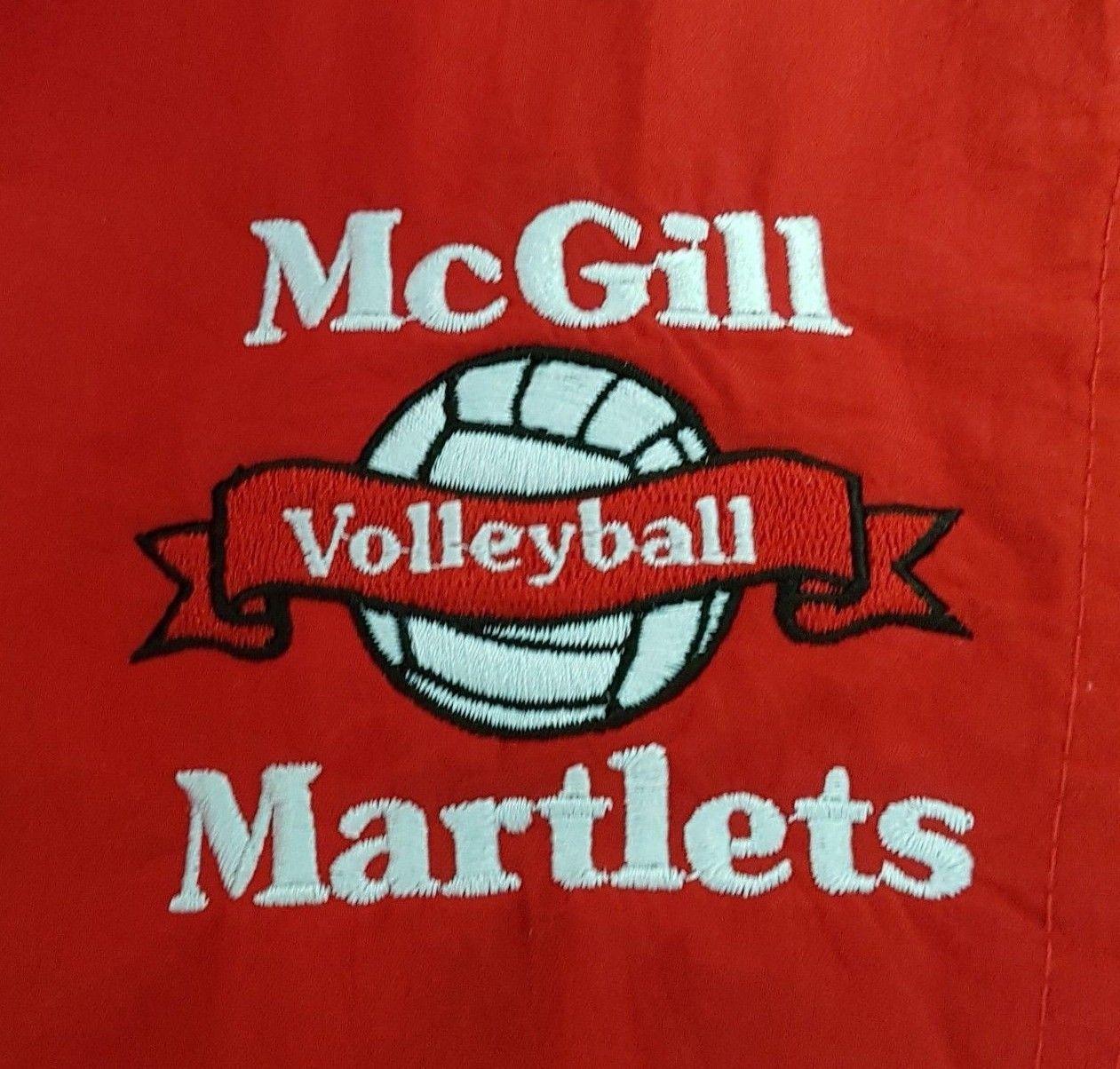 2b8241c18f264 Vintage McGill University Volleyball Lined Windbreaker Jacket ASICS Size  Large